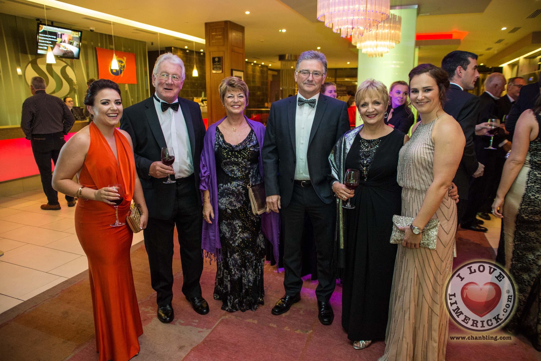 Kate Mulqueen, Noel and Eleanor Markham, Stephen, Margaret and Clodagh Dunworth. Picture Cian Reinhardt/ilovelimerick
