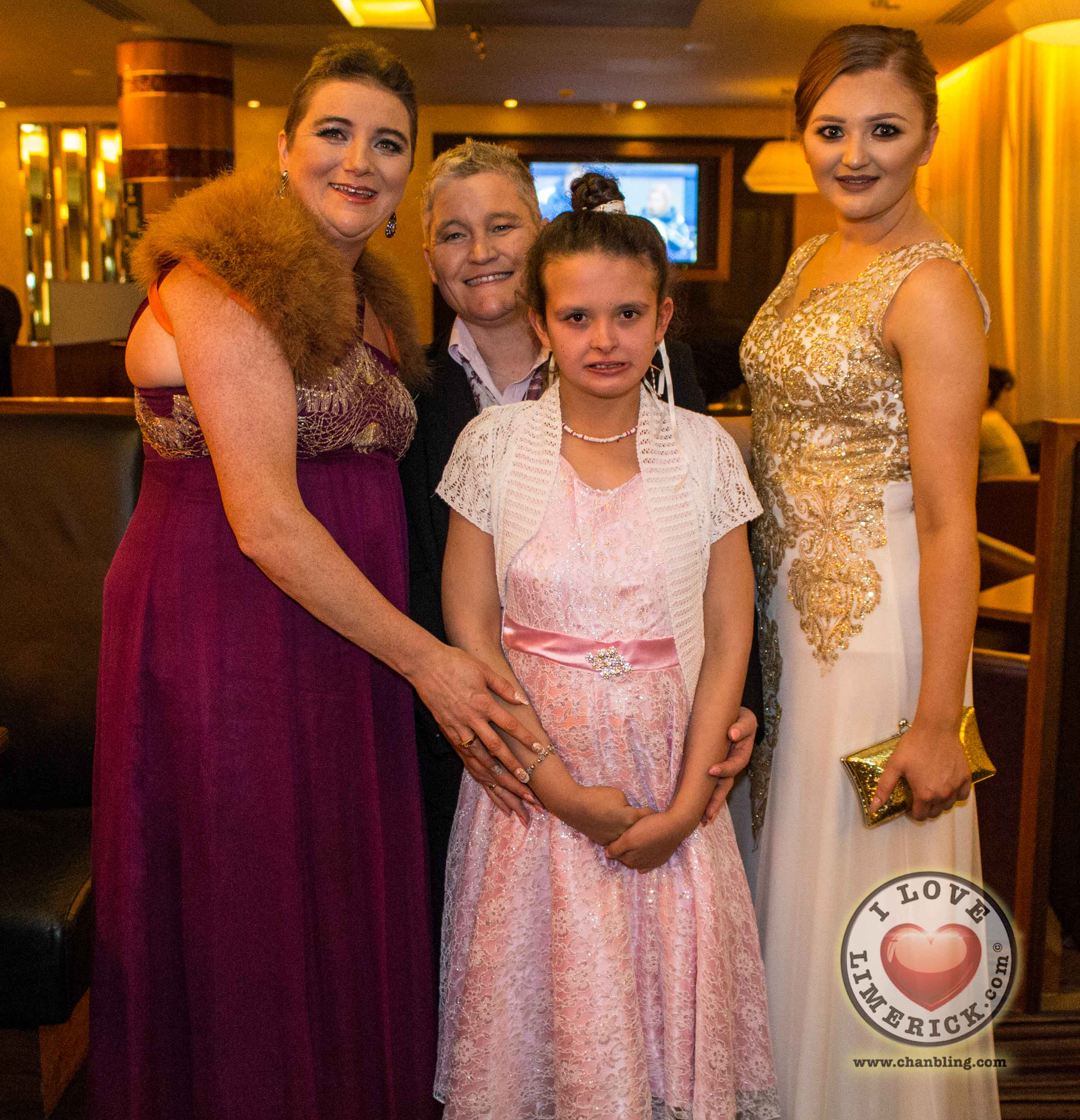 Carole and Michelle Neacon, Sarah Connors and Alice Pilling. Picture Cian Reinhardt/ilovelimerick
