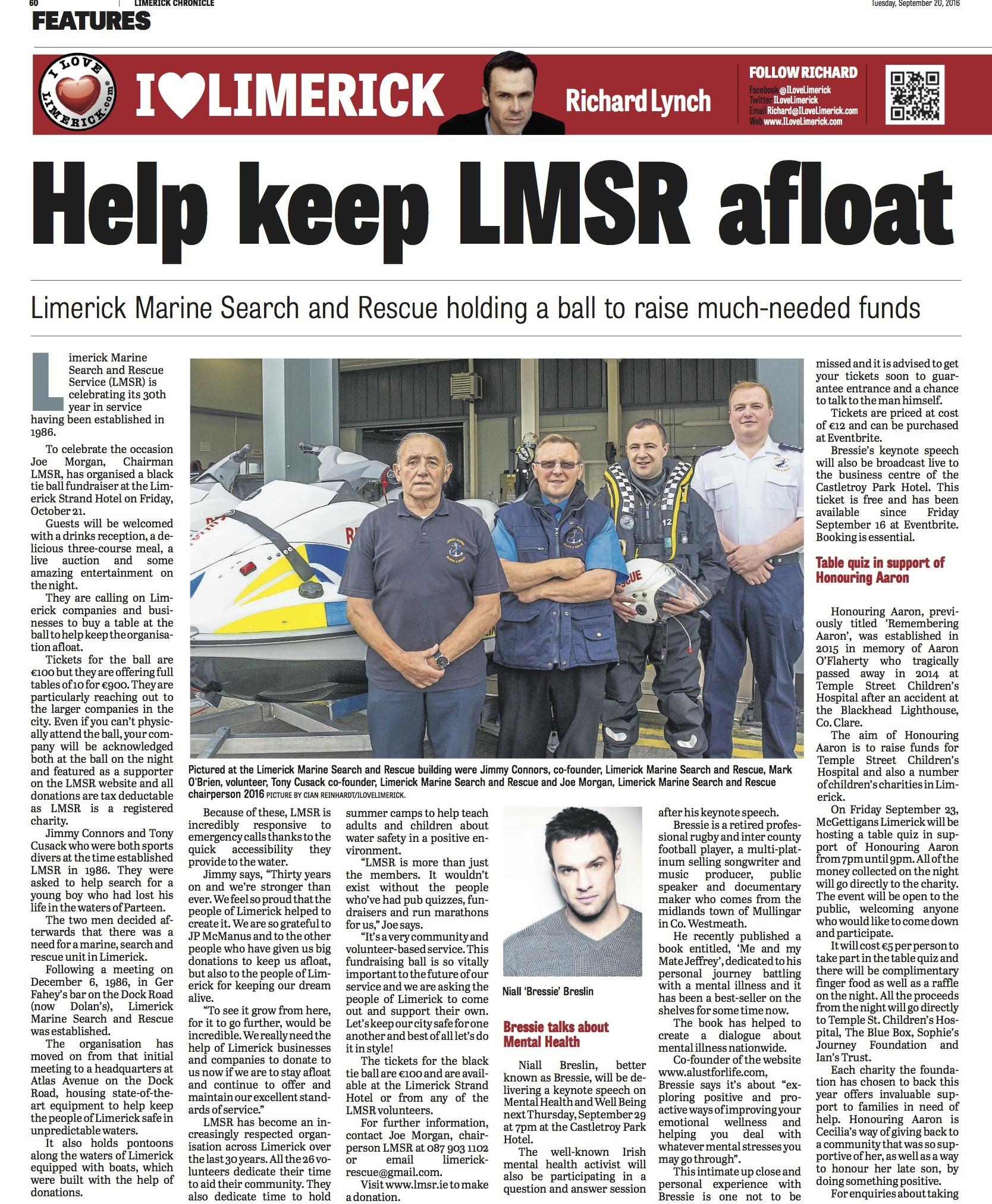 Limerick Chronicle Sept 20 2016